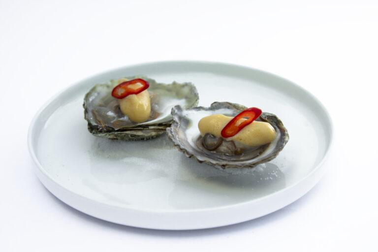 Sijmen Louis private chef oester mangoschuim